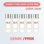 Combo 5 Nước Hoa Hồng SK-II Facial Treatment Clear Lotion 30ml